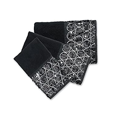 Popular Bath 838879 Sinatra 3-PC Towel Set,Black,Towel-Sets