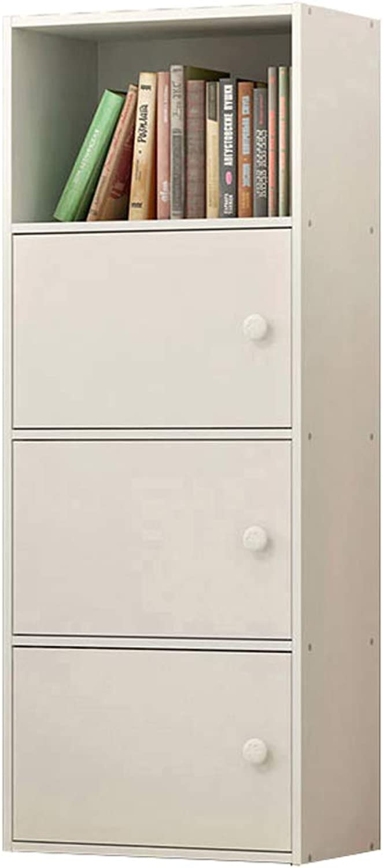 CXQ Modern Desktop Bookshelf Solid Wood Floor Racks Office Simple Bookshelf Student Desktop White Bookcase