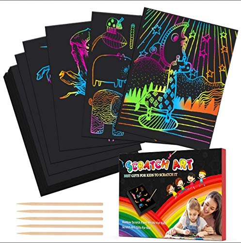 (50% OFF Coupon) Rainbow Scratch Paper $8.00