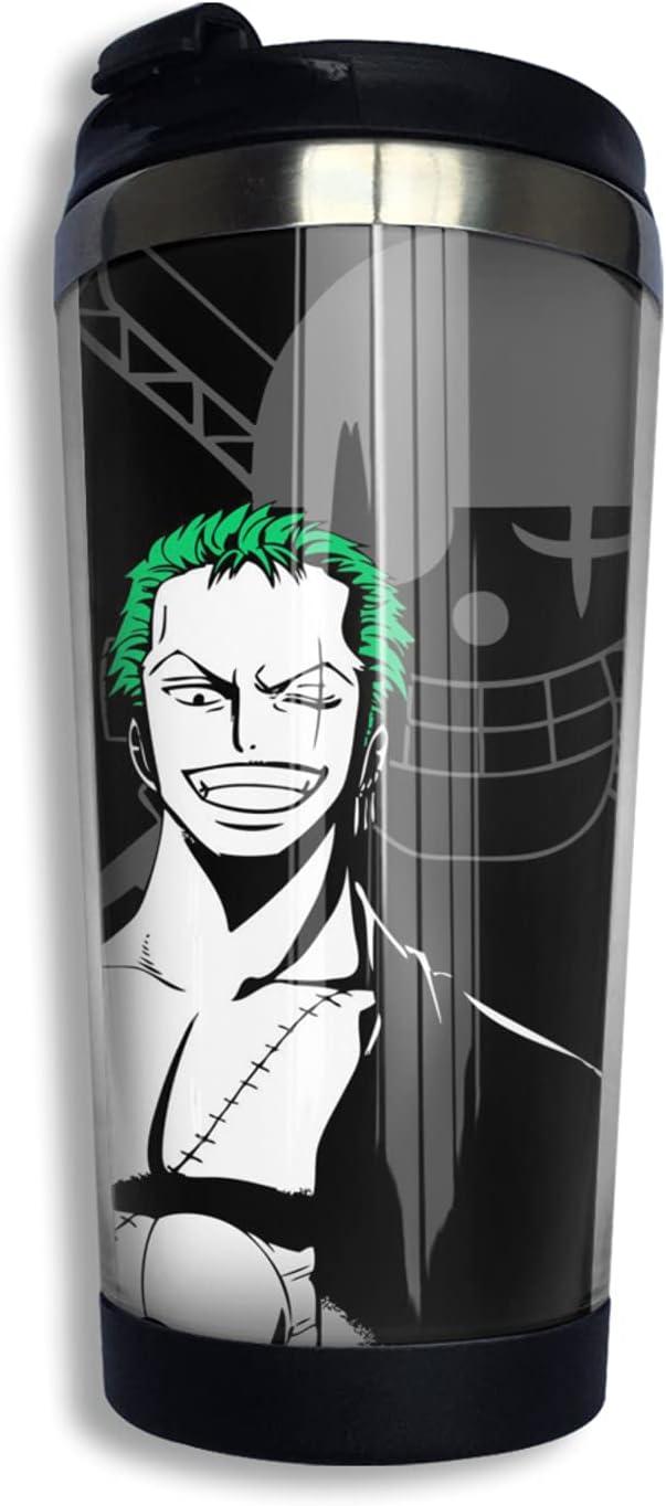 One Ranking TOP20 Piece Samurai Roronoa Zoro Anime Print Coffee 3d Fashion Cup Thermos