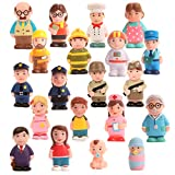 Beverly Hills Doll Collection Sweet Li'l Folks Set of 20 Community and Family Dollhouse Figures Soft Vinyl Play Figures People for All Ages