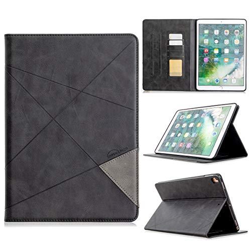 SHUYIT Hülle für iPad 10.2 2019 / iPad Air 3 10.5 2019 / iPad Pro 10.5, Premium PU Leder Tasche Flip Case Ständer Hülle mit Auto Schlaf-/Aufwachfunktion - Kratzfeste Schutzhülle, Schwarz