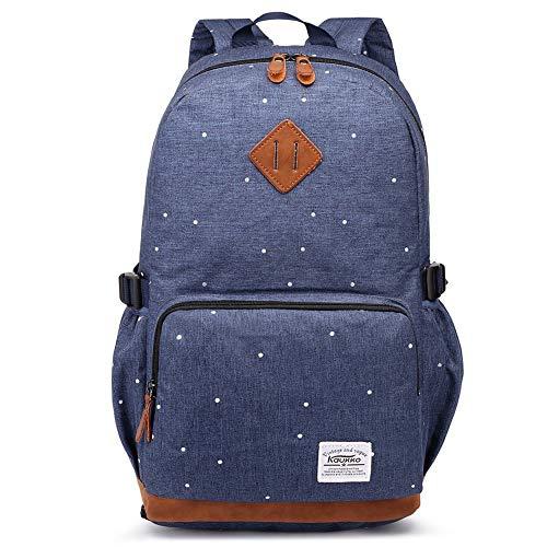 Kaukko Rucksack Damen Herren Schicker und Praktisch Rucksack für Schule, Uni, mit Laptopfach & Anti Diebstahl Tasche für den Alltag, 11.8