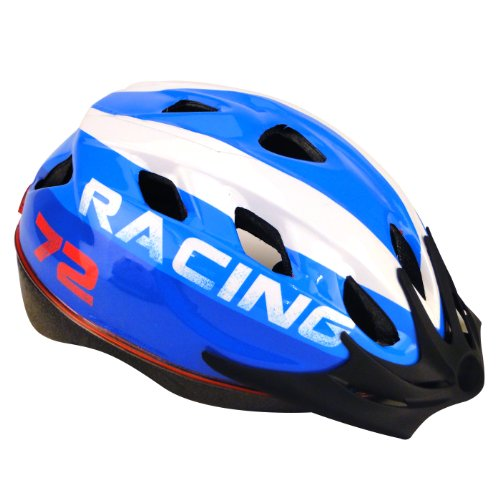 Profex Fahrradhelm Racing S/M, blau, 52-58 cm, 62343