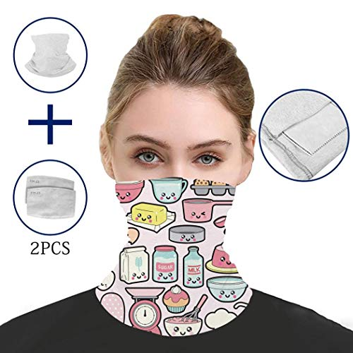 Balaclava Cute Kitchen Supplies Wind, Dust and Sun Protection Mouth and Nose Scarf