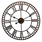Wyegate Outdoor Garden Wall Clock Large Weatherproof with Roman Numerals Diameter 60.3cm x