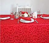 Giovanni Dolcinotti Christmas Collection  Tovaglia Natalizia Rossa 8 posti, 140x220 cm Made in Italy