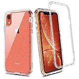 BENTOBEN iPhone XR Funda Transparente Cristal Brillante Resistente Cuerpo Protectora Completo Antigolpes Carcasa Combinada 3 en1 Dura PC Bumper y Silicona TPU Suave Cubierta Funda para iPhone XR-6.1''