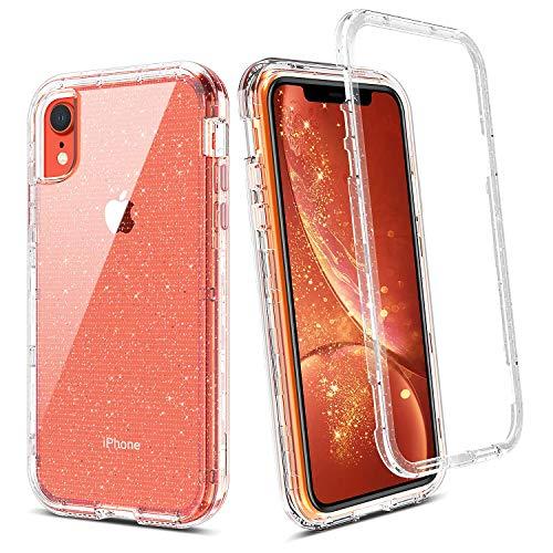 BENTOBEN iPhone XR Funda Transparente Cristal Brillante Resistente Cuerpo Protectora Completo Antigolpes...