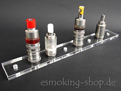 Esmoking Shop Dampfständer E-Zigaretten für 8 Verdampfer - Acryl - Smok Alien OBS Asmodus