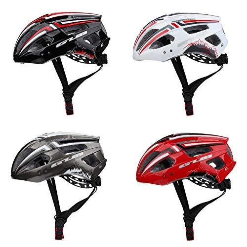 Amagogo Juego de 4 Cascos para Bicicleta con Luz LED, Luz Trasera, Cascos Protectores para Bicicletas de Montaña