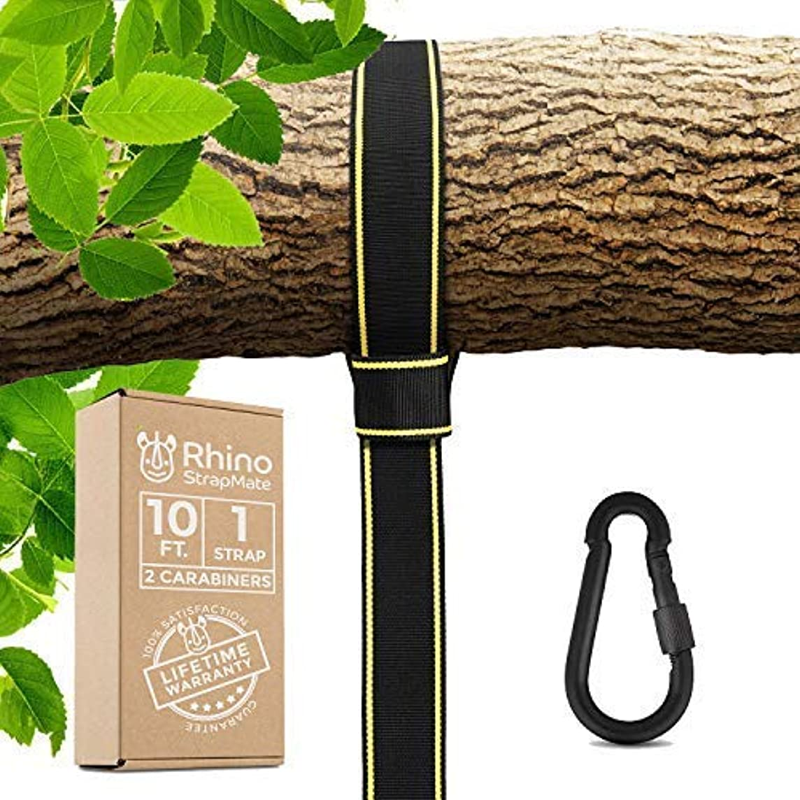 Tree Swing Strap Hanging Kit – 10ft Strap, Holds 2800 lbs (SGS Certified), Fast & Easy Way to Hang Any Swing – Outdoor Swing Hangers