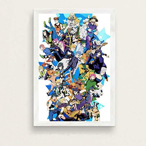 Fymm丶shop Creative Mode Moderne De JoJo Bizarre Adventure Hot Japan Anime Art Peinture Soie Toile Affiche Murale Décor À La Maison No Frame 40X50 Cm