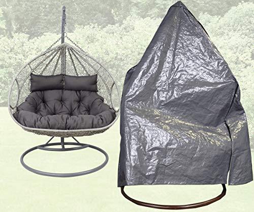 Beschermhoes grijs voor 2 persoons hangstoel