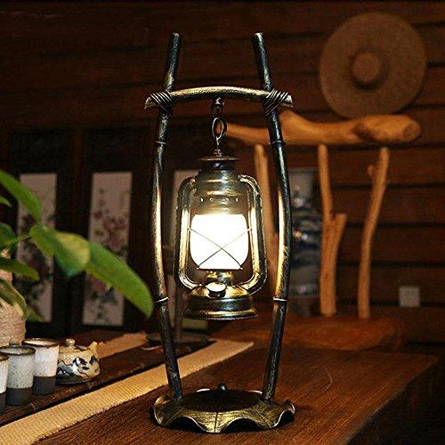 E27 barra de estudio de un dormitorio, forjado hierro linterna de queroseno antiguos chinos personalidad creativa lámpara de escritorio