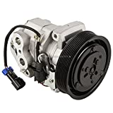 AC Compressor & 8-Groove 140mm A/C Clutch For Freightliner Replaces 22-65770-000 Denso 10S15C 12v - BuyAutoParts 60-03493NA New