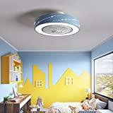 YLJYJ Luz de Ventilador de Techo LED, atenuación de Tres velocidades y Control Remoto de Velocidad del Viento de Tres velocidades Luz de Techo de sincronización