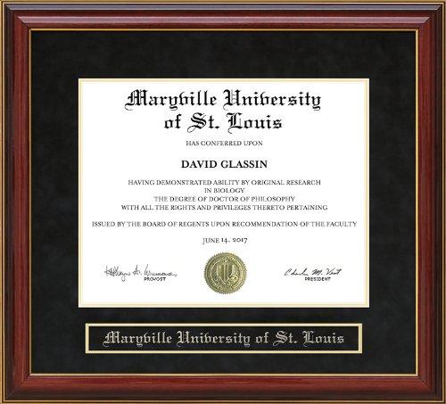 Wordyisms Maryville University of St. Louis Mahogany Diploma Frame -  mo-maryville-91-maho