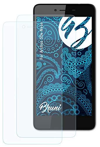Bruni Schutzfolie kompatibel mit Archos 50e Neon Folie, glasklare Bildschirmschutzfolie (2X)