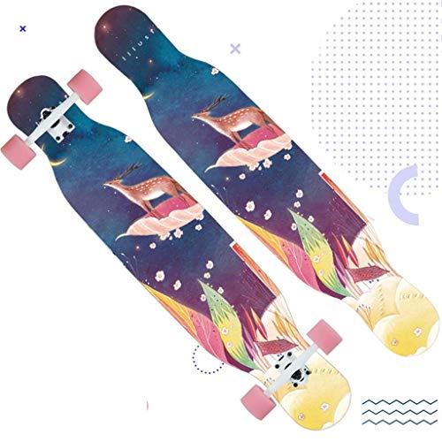WRJY Skateboard Longboard Dance Board Professionelles Road Skateboard Girl Pink Skateboard Skateboard (Farbe: C)