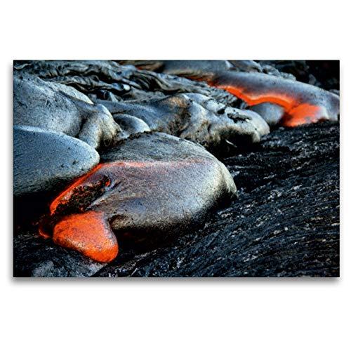 CALVENDO Premium Textil-Leinwand 120 x 80 cm Quer-Format Pahoehoe Lava - Big Island, Leinwanddruck von Florian Krauss