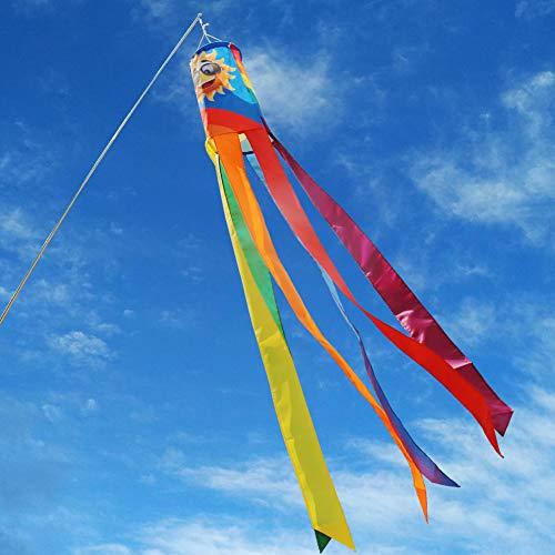 Windsack Regenbogen - Colorful Dekoration zum Aufhängen - UV Beständig und Wetterfest