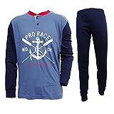 Navigare Pigiama Uomo Lungo Cotone Jersey Homewear Art. 140862 (Jeans, 50/L)