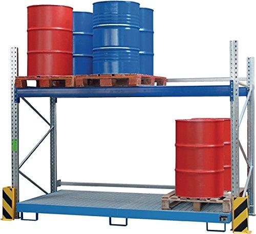 Bauer GmbH Einhängewanne lackiert RAL 3000 B2650xT1250/915xH130mm, Volumen 200 l