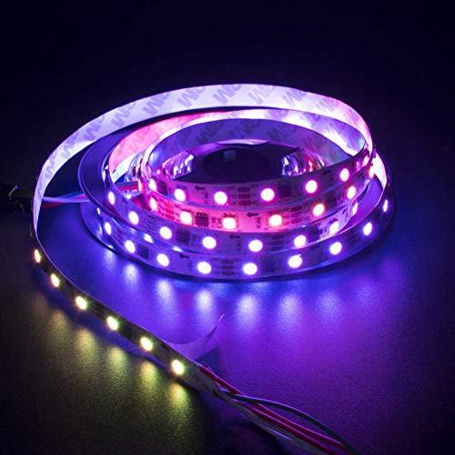 ZSML 1 Unidad de 5 Metros RGB, Impermeable, con Pilas, Multicolor, Tira de luz LED, Cuerda de luz para Sala de Estar, Dormitorio, Armario, estantería, Escritorio