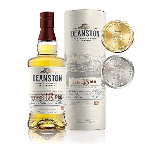 Deanston Highland 18 Ans Single Malt Whisky en Coffret Cadeau 700 ml