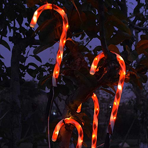 """Candy Cane Stake Lights Christmas LED Lights 4 Pack, 15"""" Solar Light Outside Garden Markers Yard Sign Outdoor Lawn Decorations: Candy Cane Christmas Pathway Markers"""