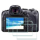 Protector de pantalla para cámara Canon EOS R6, ULBTER 9H EOSR6 Protector de pantalla de vidrio templado de borde a borde, antiarañazos, antihuellas dactilares, antiburbujas, paquete de 3