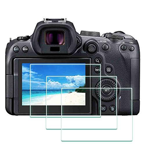 Displayschutzfolie für Canon EOS R6 Kamera, ULBTER 9H EOSR6 gehärtetes Glas, Displayschutzfolie von Kante zu Kante, Anti-Kratzen, Anti-Fingerabdruck, blasenfrei, 3 Stück