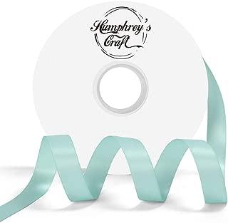 Humphrey's Craft 5/8-inch Double Face Solid Satin Ribbon 100% Polyester Ribbon Roll-50 Yard (Tiffany Blue)