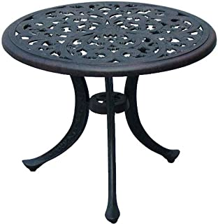 Amazon Com Cast Aluminum Side Tables Tables Patio Lawn Garden