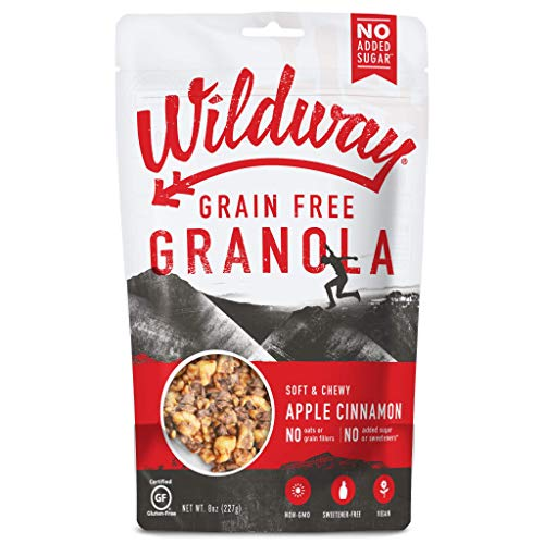 Wildway Keto, Vegan Granola | Apple Cinnamon Granola | Certified Gluten Free Granola Breakfast Cereal, Low Carb Snack | Paleo, Grain Free, Non GMO, No Added Sugar | 8oz