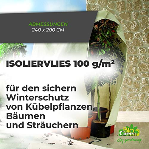 Bio Green Winterschutz Kübelpflanzensack, beige, super Stark , XXL 240 x 200 cm - 3