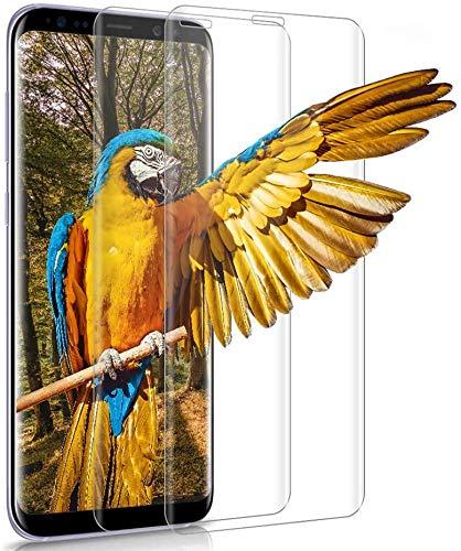 wsiiroon Panzerglas für Samsung Galaxy S8, [2 Stück] Hohe Qualität Schutzfolie, 9H Härte, HD Clear, Anti-Fingerabdruck, Blasenfrei Displayschutzfolie, Anti-Kratzer Panzerglasfolie