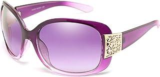 FJCY - Gafas de Sol Negras Moda Mujer Damas Gafas de Sol Retro Grandes Ladies-6-Kp81033-C4