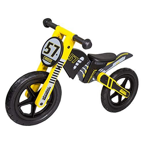 WOOMAX - Bicicletta senza pedali in legno per bambini 2-5 anni (85370).