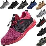 Zapatos de Seguridad para Hombre Transpirable Ligeras con Puntera de Acero Zapatillas de Seguridad Trabajo, Calzado de Industrial y Deportiva 36