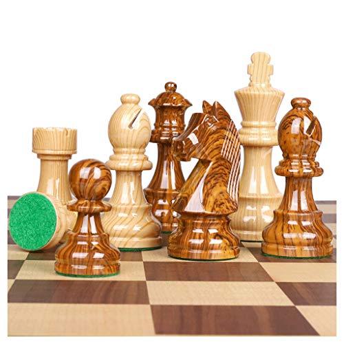 Pank Chess de Resina, Juego de ajedrez Plegable de Lujo de Alta Gama, 19 Pulgadas, sobredimensiones, para Adultos niños, Franela Dentro, Juegos, Viajes, Regalo (Color : Natural, tamaño : X-Large)