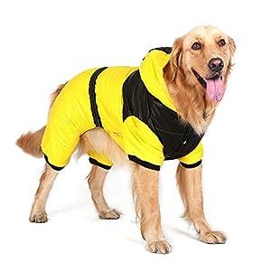 bwiv chaude pour femme pour grand chien à capuche Combinaison Vêtements Costume Manteau d'hiver costume