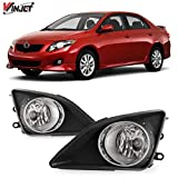 Winjet Compatible with [2009-2010 Toyota Corolla] Driving Fog Lights + Switch + Wiring Kit