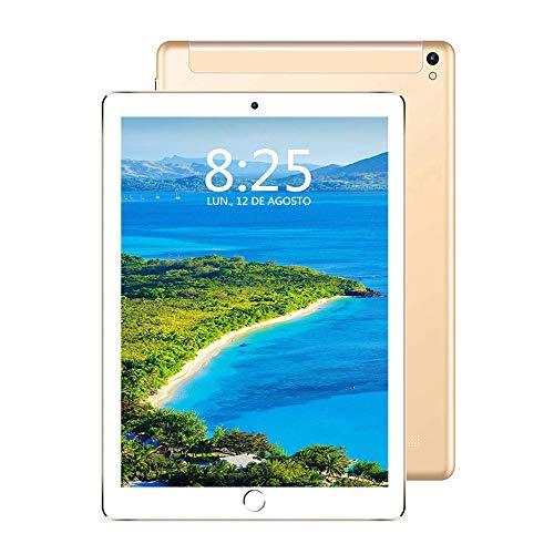 Tableta 10 Pulgadas, 4G/Wi-Fi Tablet PC Android 7.0 Full HD, Procesador de Cuatro núcleos, 3GB de RAM y 32GB de Memoria, Batería de 8000 mAh, Dual SIM y cámara, GPS/OTG/Bluetooth 4.0