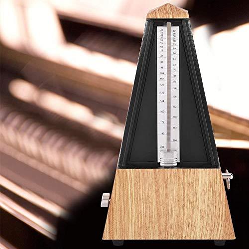 Metrónomo Mecánico, Guitarra Piano Instrumento Batería Tipo Torre Metrónomo Accesorio Musical(Madera Poco Profunda)
