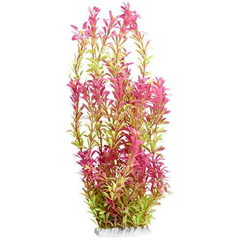 Furpaw Aquarium Pflanze Leuchten, Künstliche Pflanzen Aquarium Dekoration 3 Segmente, Rosa-Grün
