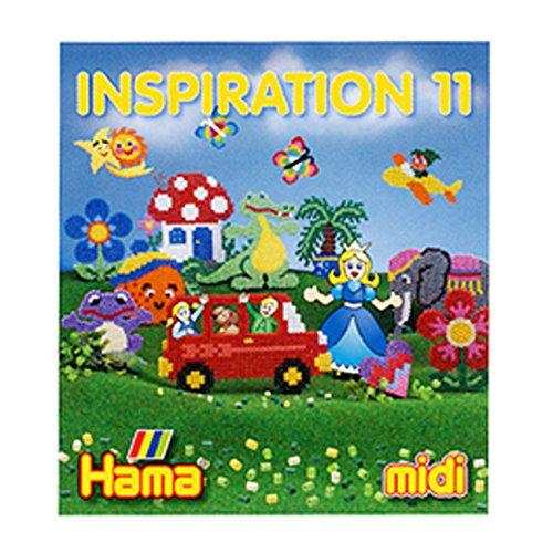 Hama Perlen 399-11 Inspiration Heft Nr. 11 Vorlagenbuch mit farbenfrohen Ideen, Motiven und Anleitungen zum Basteln mit Bügelperlen, kreativer Bastelspaß für Groß und Klein
