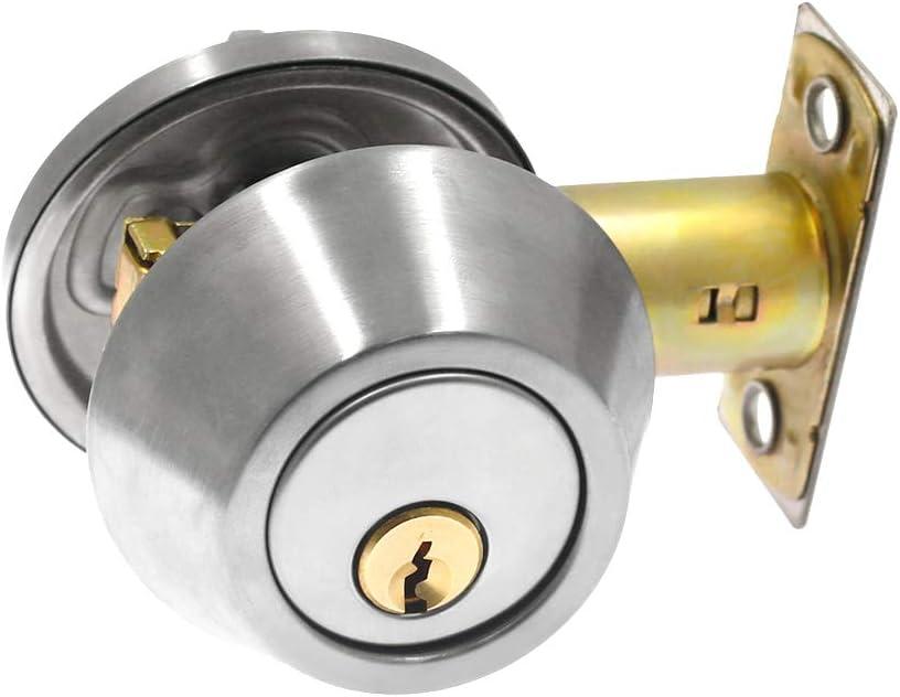 BTMB Single Cylinder Deadbolt Stainl Manufacturer OFFicial shop Lock Security discount Door