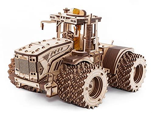 EWA Eco-Wood-Art Eco Wood Art - Traktor KIROVETS K-7M - Mechanischer Traktor dreidimensionales Puzzle für Erwachsene und Jugendliche - Kollektion ohne Klebstoff - 596 Details, Farbe Natur